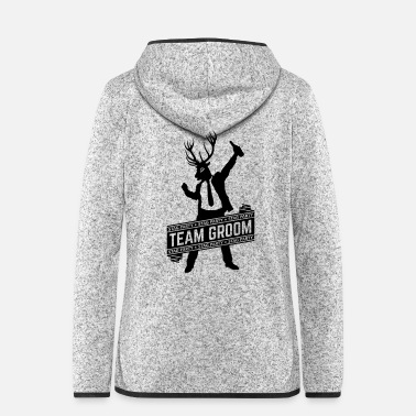 Party Team Groom / Stag Party (1C) - Women's Hooded Fleece Jacket