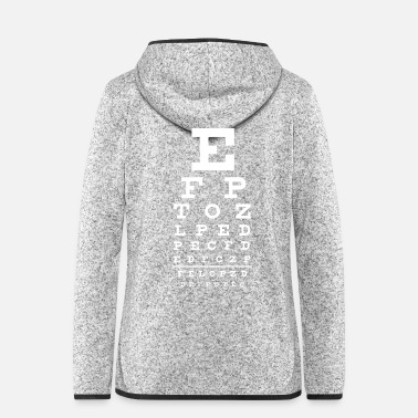 Geek eye chart - Sehtest - Frauen Fleece Kapuzenjacke