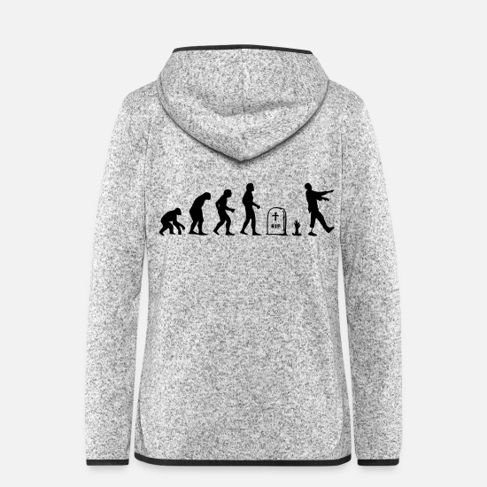 Generation Jackets & Vests - Evolution After living as a zombie - Women's Hooded Fleece Jacket light heather grey