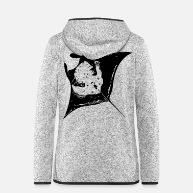 Devil Male Manta Ray - devil rays - Women's Hooded Fleece Jacket