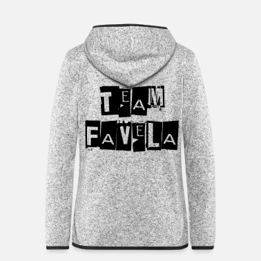 teamfavela - Frauen Fleece Kapuzenjacke