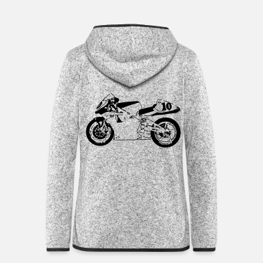 Motorcycle motorcycle - Women's Hooded Fleece Jacket
