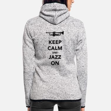 Cannonball Keep Calm Jazz Trumpet II - Women's Hooded Fleece Jacket