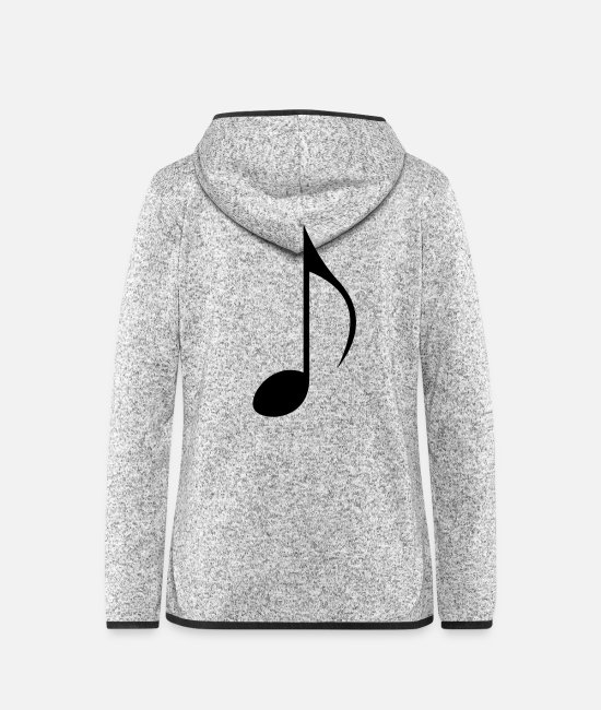 Sheet Music Jackets - Sheet Music Instrument - Women's Hooded Fleece Jacket light heather grey