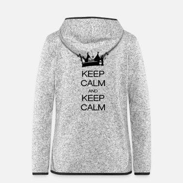 Keep Calm keep calm and keep calm - Giacca di pile con cappuccio donna