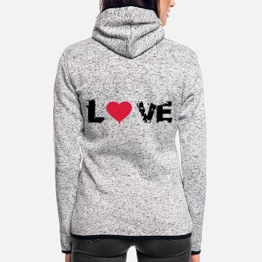 Rotlicht love - Frauen Fleece Kapuzenjacke