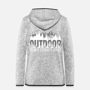 Outdoor Outdoor - Dream Discover Explore - Frauen Fleece Kapuzenjacke