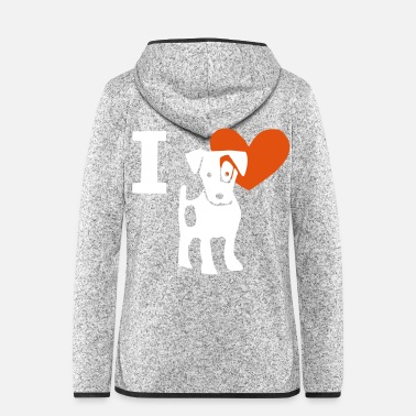 Jack I love Jack Russel I love Jack Russel - Women's Hooded Fleece Jacket