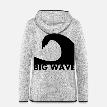 Big Big Wave - Women's Hooded Fleece Jacket