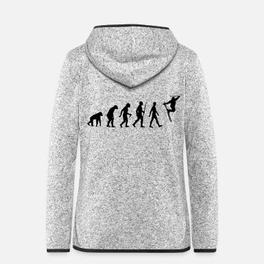 Evolution - ski freestyle, winter sports, snow - Women's Hooded Fleece Jacket