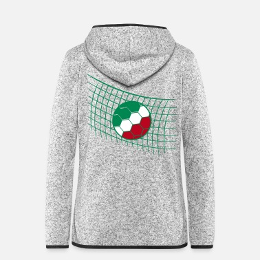 Netz italien italy cool tor netz fan feiern party ball - Frauen Fleece Kapuzenjacke