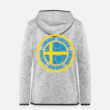 Schweden schweden sweden text stempel sticker aufkleber log - Frauen Fleece Kapuzenjacke