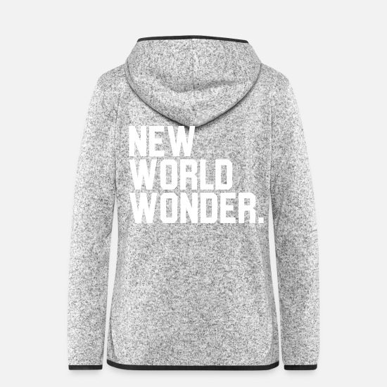 Ballerina Jacken & Westen - New World Wonder - Frauen Fleece Kapuzenjacke Hellgrau meliert