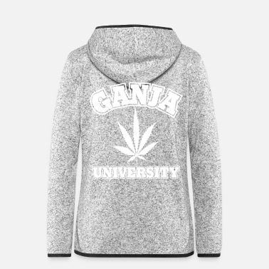 Splatter Ganja University - Frauen Fleece Kapuzenjacke