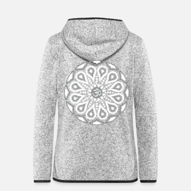 Silber 004 - OM MULTI COLOR - Frauen Fleece Kapuzenjacke
