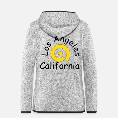 Los Angeles Los Angeles California Urlaub 2018 - Frauen Fleece Kapuzenjacke