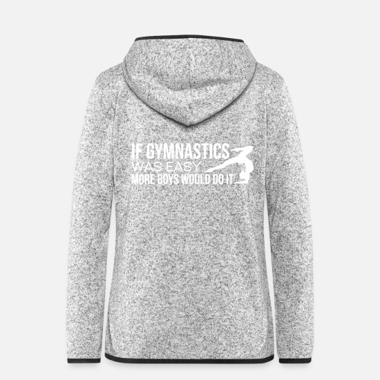 Gymnastic Jackets & Vests - Gymnastics Gymnast Gymnast Woman Gymnast Gift - Women's Hooded Fleece Jacket light heather grey