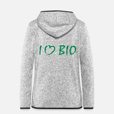 Bio i love bio - Frauen Fleece Kapuzenjacke