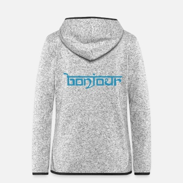 Ur HALLO - Frauen Fleece Kapuzenjacke