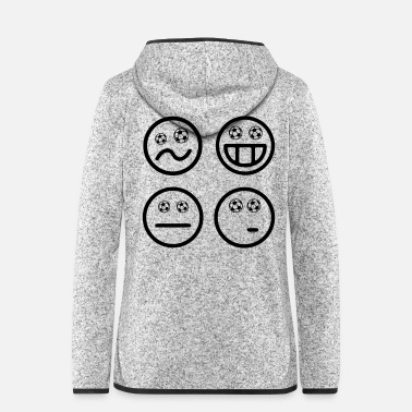 Ballsport Smiley Fußball Emoticon Fussball Happy World Cup - Frauen Fleece Kapuzenjacke