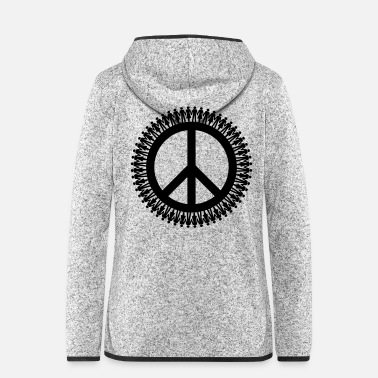 Piece Gender Equality & Piece | Diversity & Peace - Women's Hooded Fleece Jacket