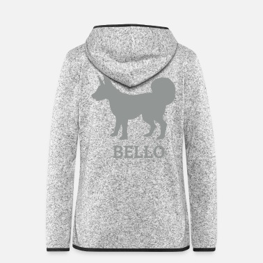 Bello Hund Bello - Frauen Fleece Kapuzenjacke