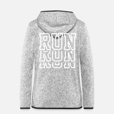 Running Run Run Run - Running Shirt - Marathon - Jogger - Women's Hooded Fleece Jacket