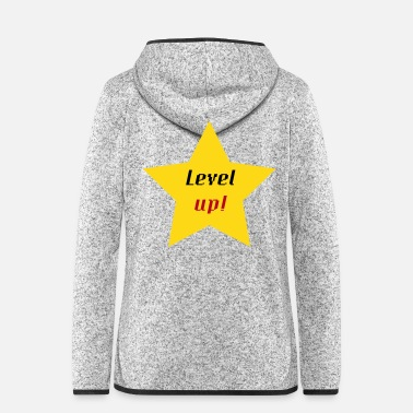 Up Level Up! - Frauen Fleece Kapuzenjacke