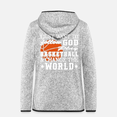 Offensive Play basketball Change The World - Frauen Fleece Kapuzenjacke