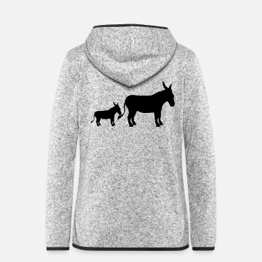 Birthday For Dad Buttons baby child small young family mom dad donkey pf - Women's Hooded Fleece Jacket
