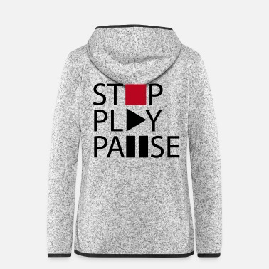 Mp3 Stop play pause - Frauen Fleece Kapuzenjacke