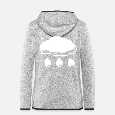 Cloud Cloud clouds sky rain showers dark weather - Women's Hooded Fleece Jacket