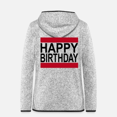 Geburtsdatum Happy Birthday im Retro Style - Frauen Fleece Kapuzenjacke