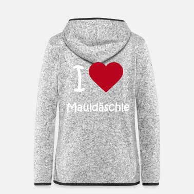 I Love I love Mauldäschle - Women's Hooded Fleece Jacket