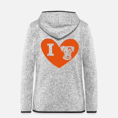Jack I love Jack Russel I love Jack Russel heart - Women's Hooded Fleece Jacket