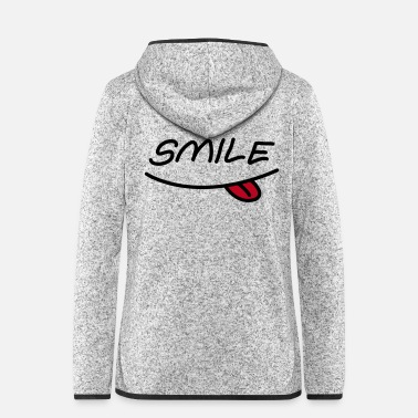 Mouth Smiley mouth - Women's Hooded Fleece Jacket