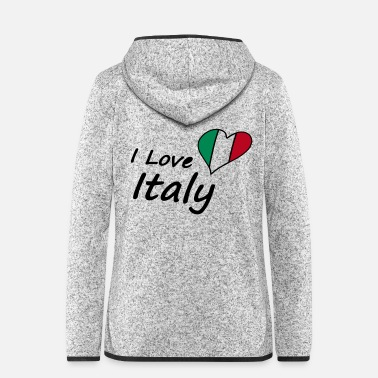 Country I Love Italy - Frauen Fleece Kapuzenjacke