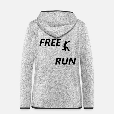 Movement free run - Frauen Fleece Kapuzenjacke