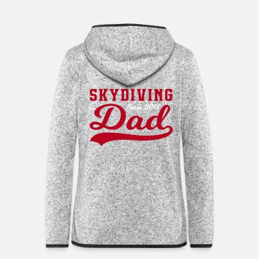 Supergeil Skydiving Dad - Frauen Fleece Kapuzenjacke