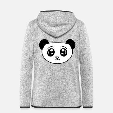 China head face panda cute cute baer china asia - Women's Hooded Fleece Jacket