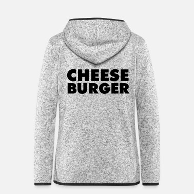 Speck Cheeseburger - Frauen Fleece Kapuzenjacke