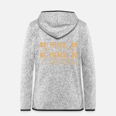 Together huge child evil fierce together with english slogan - Women's Hooded Fleece Jacket
