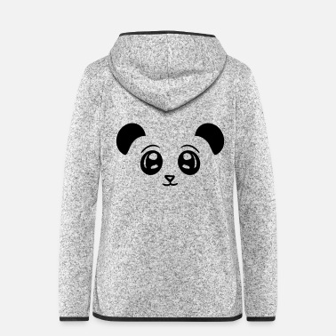 China face head panda cute cute baer china asia - Women's Hooded Fleece Jacket