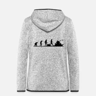 Darwin Evolution of garbage people - Women's Hooded Fleece Jacket