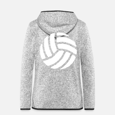 Volley Volleyball Sport - Frauen Fleece Kapuzenjacke