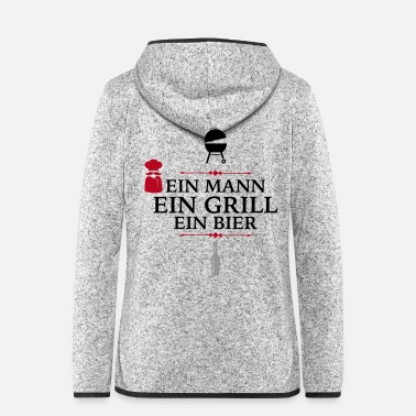 Cuisine Barbecue - Frauen Fleece Kapuzenjacke