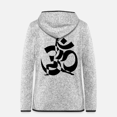 Om OM - Frauen Fleece Kapuzenjacke