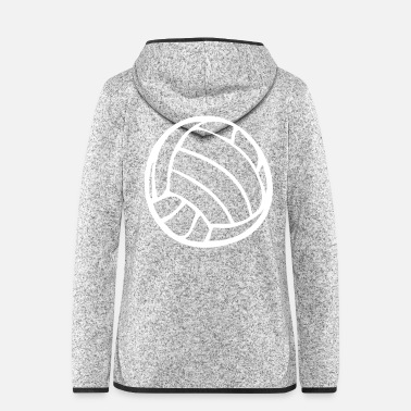 Volley Volleyball Wasserball Volley Beachvolleyball - Frauen Fleece Kapuzenjacke