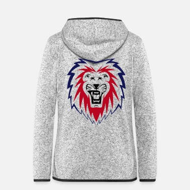 Neon Neon Lion - Women's Hooded Fleece Jacket