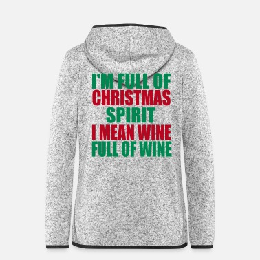 Christmas Christmas wine - Women's Hooded Fleece Jacket